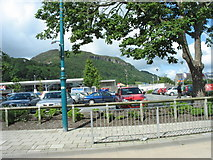 SH5639 : The car park at Porthmadog's Tesco store by Eric Jones