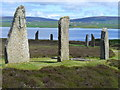 HY2913 : Ring of Brodgar and Loch Harray by Colin Smith