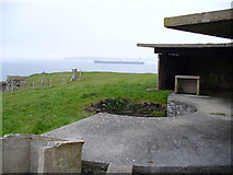 ND4092 : Gun Emplacement Overlooking Sound of Hoxa by Colin Smith