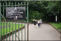 SD8203 : Station Gate Entrance, Heaton Park by Stephen McKay