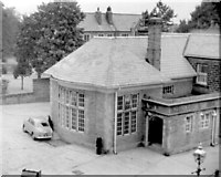 SE3053 : Mile Post public house, Leeds Road, 1955 by Anthony Eden