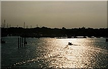 SZ3394 : Lymington marina at sunset by Chris Downer