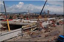 J3373 : The Westlink, Belfast (4) by Albert Bridge