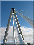 SD3317 : Southport Bridge over the Marine Lake by Keith Burroughs