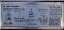 ST3049 : Burnham lighthouse information sign by Steve  Fareham