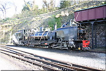SH4862 : Taking water on the Welsh Highland Railway by Jim Woodward-Nutt
