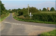 SP7099 : Gaulby Road junction by Mat Fascione