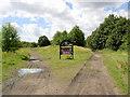 SE3804 : Trans Pennine trail junction at Aldham. by Steve  Fareham