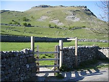 SD9163 : Gate and Footpath to the Fells near Gordale Bridge by John S Turner