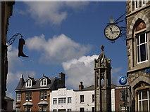 SX3384 : Launceston town centre by Derek Harper