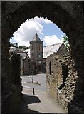 SX3384 : Launceston: the Guildhall from the castle by Derek Harper