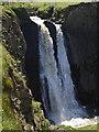 SS2223 : Upper waterfall, Speke's Mill Mouth by Derek Harper