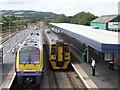 SN1916 : Whitland railway station by Hywel Williams