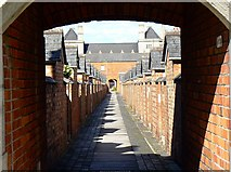 SU1484 : A view along an alley, Railway Village, Swindon by Brian Robert Marshall