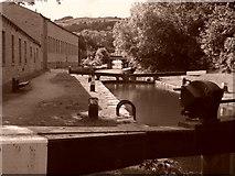 SD9926 : Hebden Bridge Locks (East) by Barry Daniels
