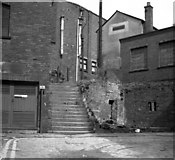SD8913 : Old steps off Baillie Street, Rochdale, Lancashire by Dr Neil Clifton