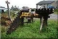 NR6219 : Peat Cutting Machine at Ballygroggan. by Steve Partridge