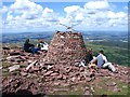 SO0620 : Rebuilt Carn Pica on Waun Rydd by Nigel Davies