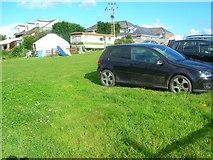 SW9379 : Yurt and Caravan Tinners Way Field by William Bartlett