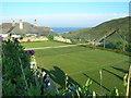 SW9379 : New Polzeath grass tennis court by William Bartlett