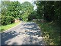 TF9615 : Bridge into Gressenhall near Norfolk Herbs by Zorba the Geek