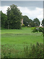 TG0828 : Glimpse of the south facade of Thurning Hall by Zorba the Geek