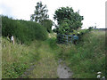 TG0429 : Inviting but not: private track of old railway, east of Hindolveston by Zorba the Geek