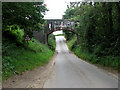 TG2528 : Railway bridge over Church Road by Evelyn Simak