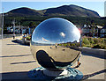 J3730 : A large mirror ball on the Promenade by Linda Bailey