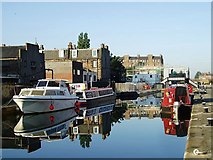 NT2472 : Reflections at Lochrin Basin by Eileen Henderson