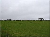 HU6390 : Farmland on the slopes below Aith by Ken Craig