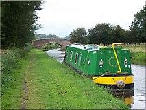 SK0220 : Trent & Mersey Canal Bridge Near Bishton by Geoff Pick
