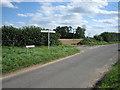 TG0404 : Y-junction near Vine Lodge, Hardingham by Zorba the Geek