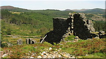 SH7123 : Above the old mill at the Cefn Coch site by Eric Jones