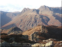 NY3004 : Summit ridge of Lingmoor Fell looking to Langdale Pikes by Andrew Hill