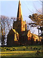 SD1779 : St George's Church, Millom, catching the evening sun by Andrew Hill