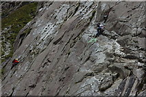 SH6459 : Climbers on the Idwal Slabs by Philip Halling