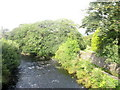 SH5826 : Afon Artro well above its normal July level by Eric Jones