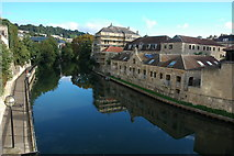 ST7565 : The River Avon in Bath by Philip Halling