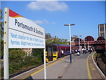 SU6400 : Portsmouth & Southsea Station by Colin Smith