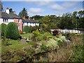 NY3239 : Streamside gardens in Caldbeck by Tom Pennington