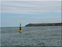 NZ9013 : Bell Rock buoy off Whitby Harbour. by Johnny Durnan