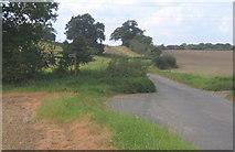TM0949 : Country lane northwest of Little Blakenham by Andrew Hill