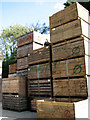TG2122 : Wooden packing crates for the transport of fruit and vegetables by Evelyn Simak