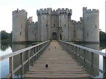 TQ7825 : Bodiam: castle footbridge by Chris Downer