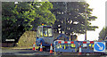 SE3801 : Roadworks at the top of Wood Walk. by Steve  Fareham