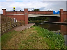 SK0419 : Rugeley Bypass - new canal bridge by Jack Barber