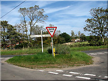 TG3829 : Junction with Common Road/Gap Road by Evelyn Simak