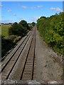 SJ4223 : Railroad between Baschurch and Weston Lullingfields by Eirian Evans