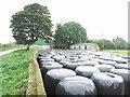 N8168 : Farm Buildings & Silage Bales at Durhamstown, Co. Meath by JP